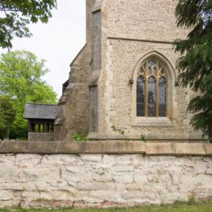 Tower repairs (repointing, stonework) at Little Eversden
